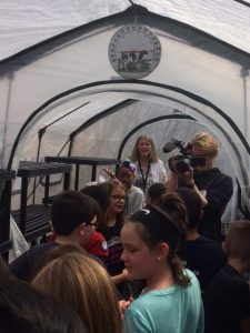 Students in Greenhouse