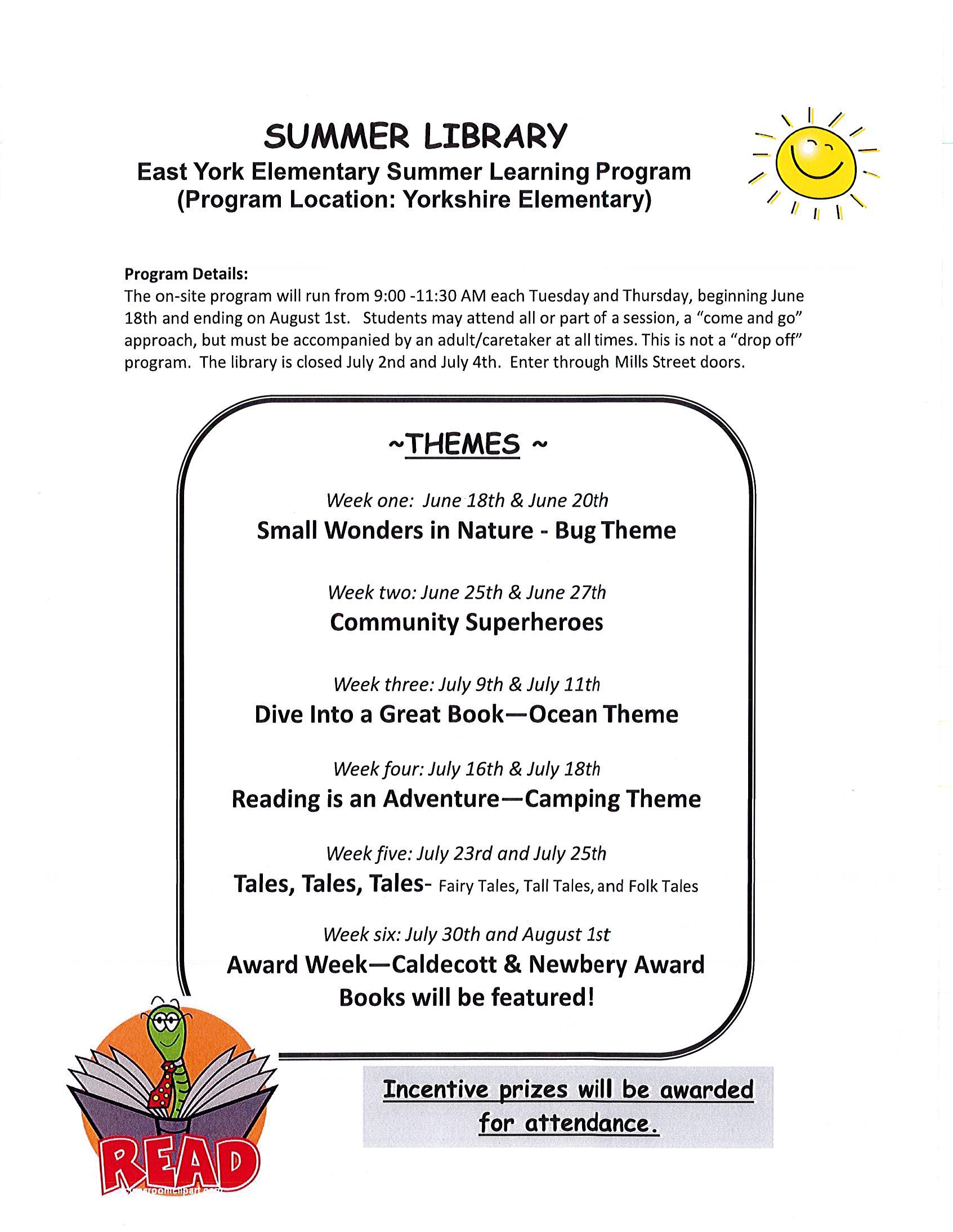 Summer Library Program Flyer