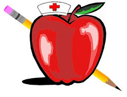 Image of apple with nurse hat