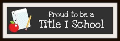 Proud to be a Title 1 school image