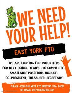 PTO Flyer - Volunteers needed