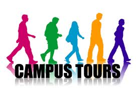students who are prospective following the tour guide