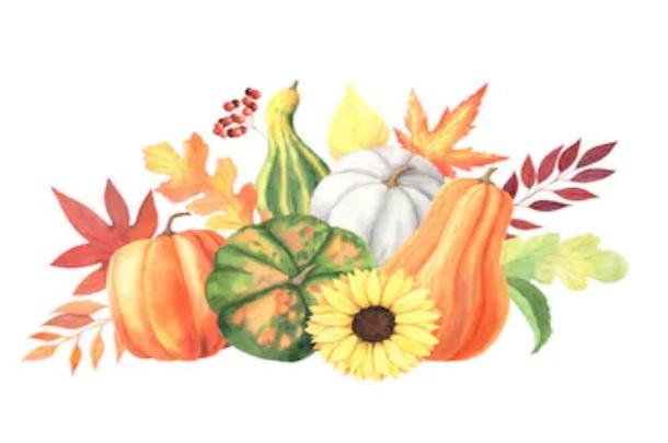 Pumpkin Fall Watercolor