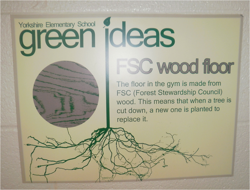FSC Wood Floor sign