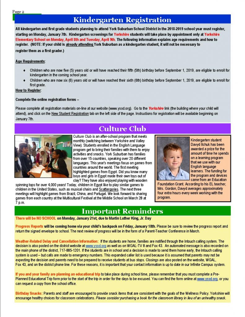 January Newsletter pg. 2