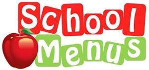 School menu graphic