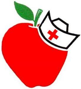 Apple and nurse cap clipart
